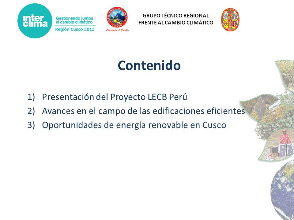 Contenido Presentación del Proyecto LECB Perú