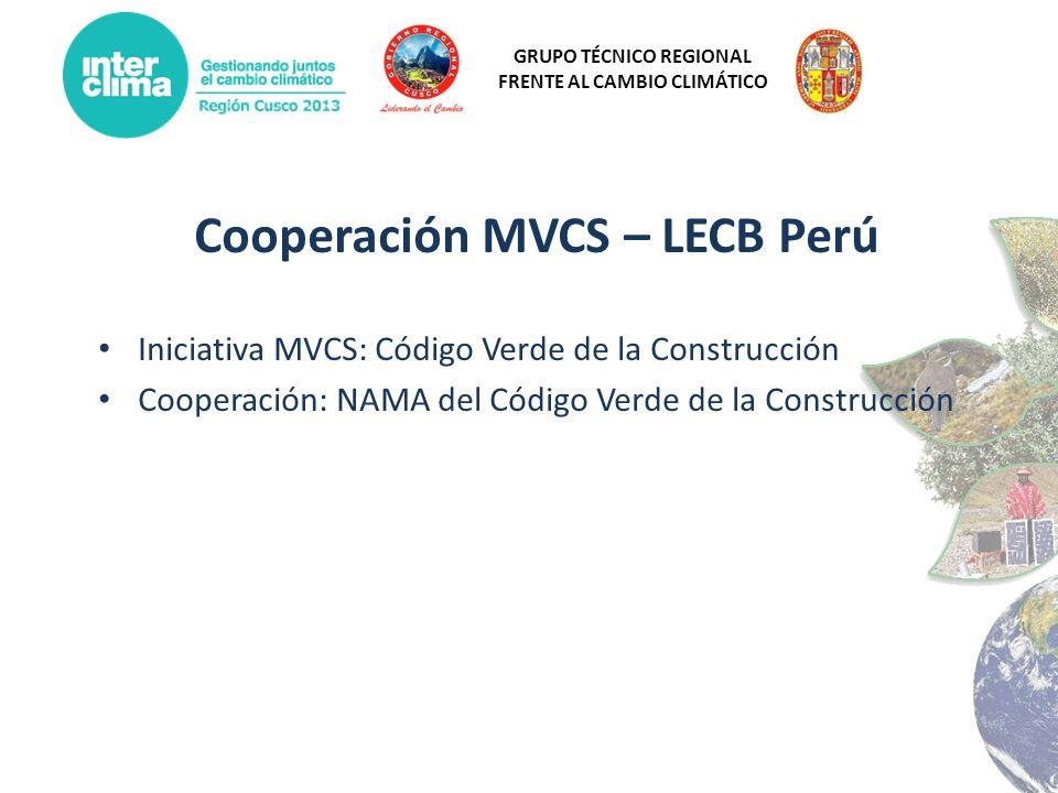 Cooperación MVCS – LECB Perú