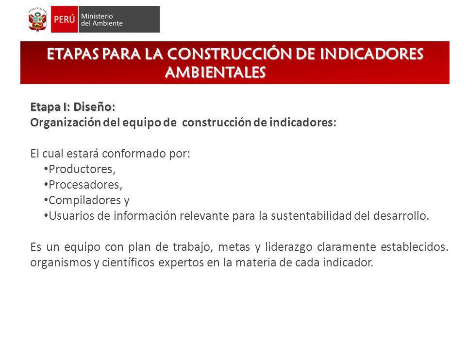 ETAPAS PARA LA CONSTRUCCIÓN DE INDICADORES AMBIENTALES