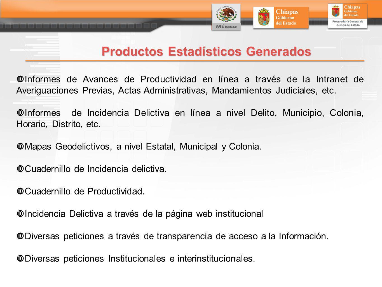 Productos Estadísticos Generados