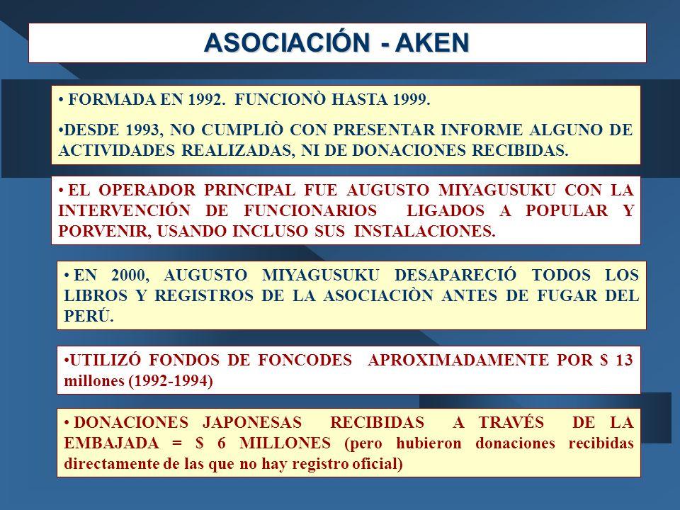 ASOCIACIÓN - AKEN FORMADA EN 1992. FUNCIONÒ HASTA 1999.