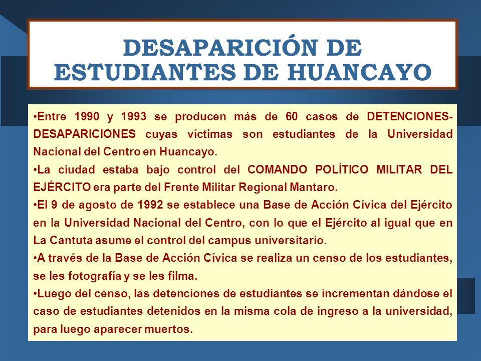 DESAPARICIÓN DE ESTUDIANTES DE HUANCAYO