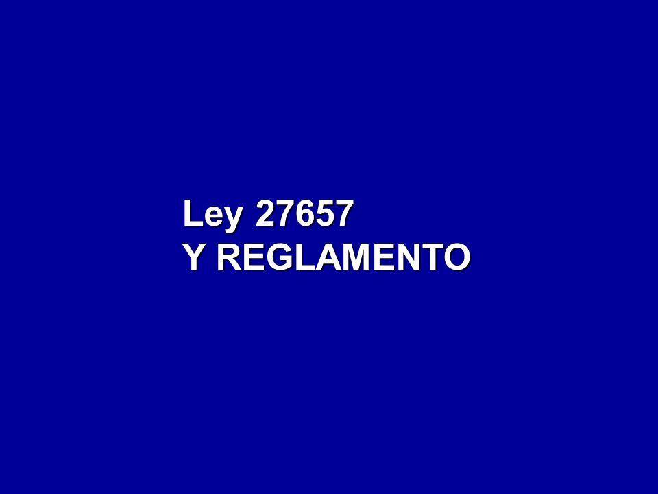 Ley 27657 Y REGLAMENTO