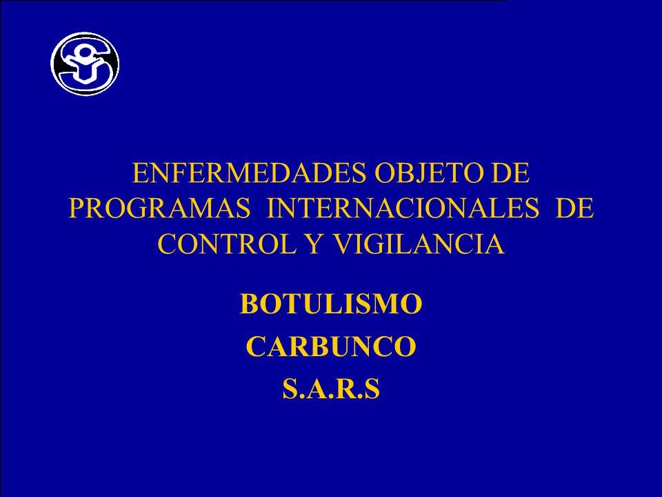 BOTULISMO CARBUNCO S.A.R.S