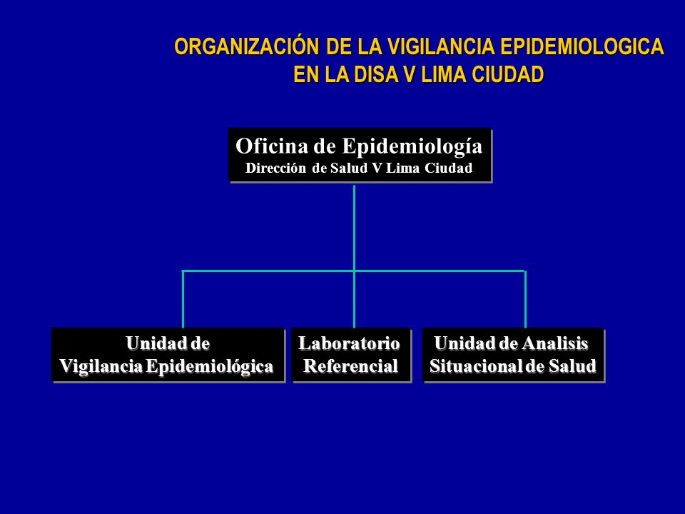 ORGANIZACIÓN DE LA VIGILANCIA EPIDEMIOLOGICA EN LA DISA V LIMA CIUDAD