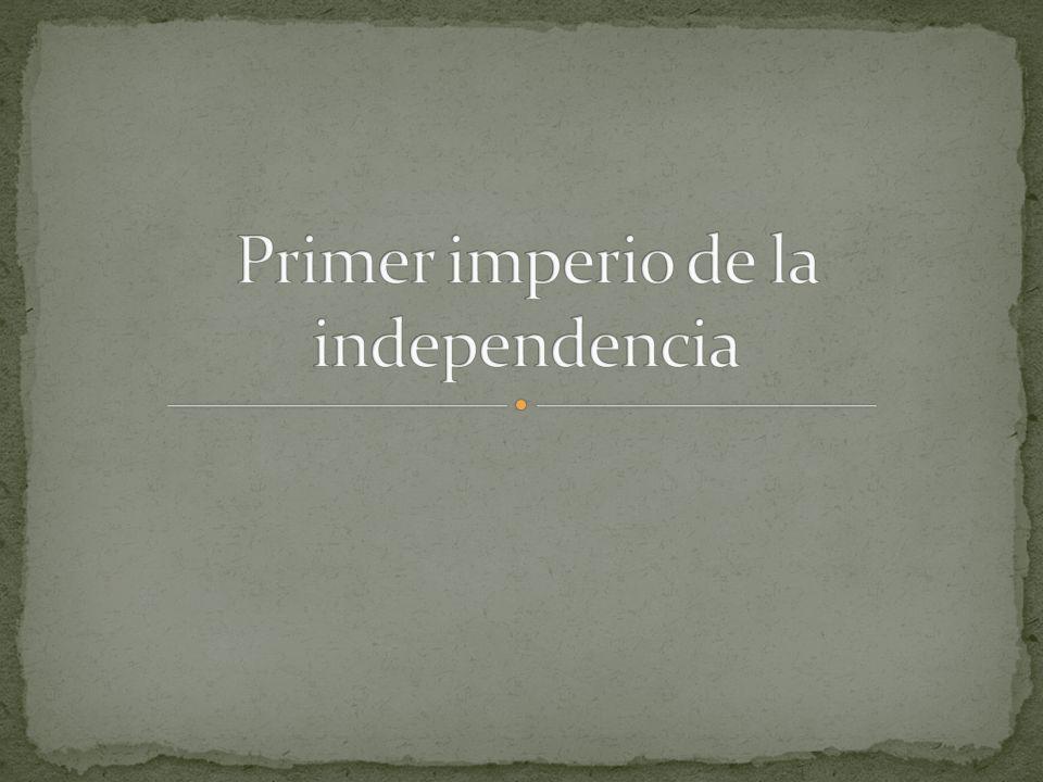 Primer imperio de la independencia