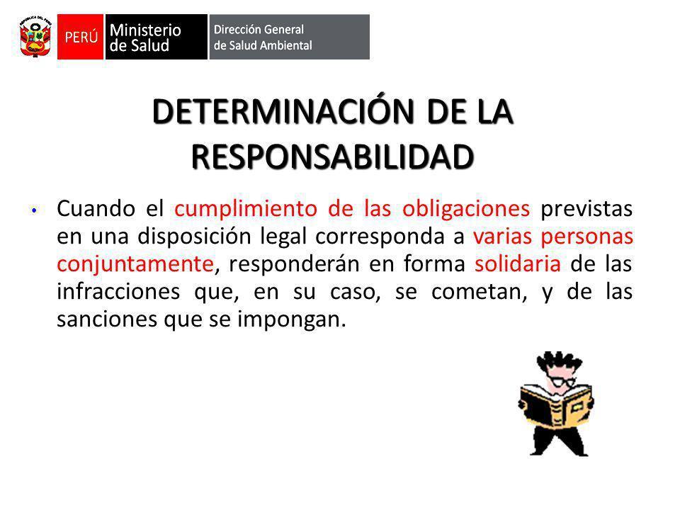 DETERMINACIÓN DE LA RESPONSABILIDAD