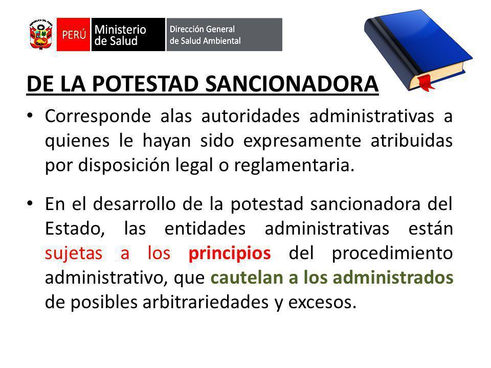 DE LA POTESTAD SANCIONADORA