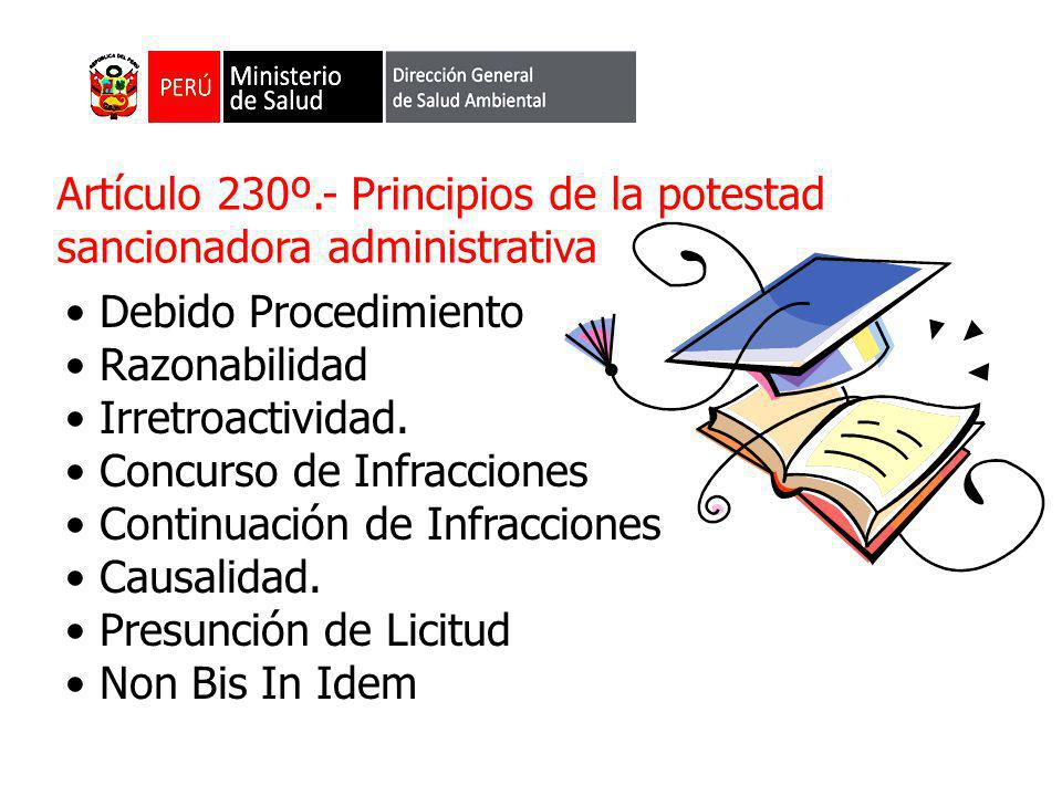 Artículo 230º.- Principios de la potestad sancionadora administrativa