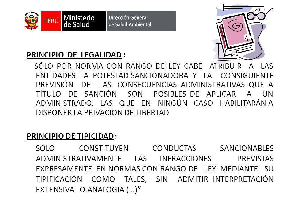 PRINCIPIO DE LEGALIDAD :
