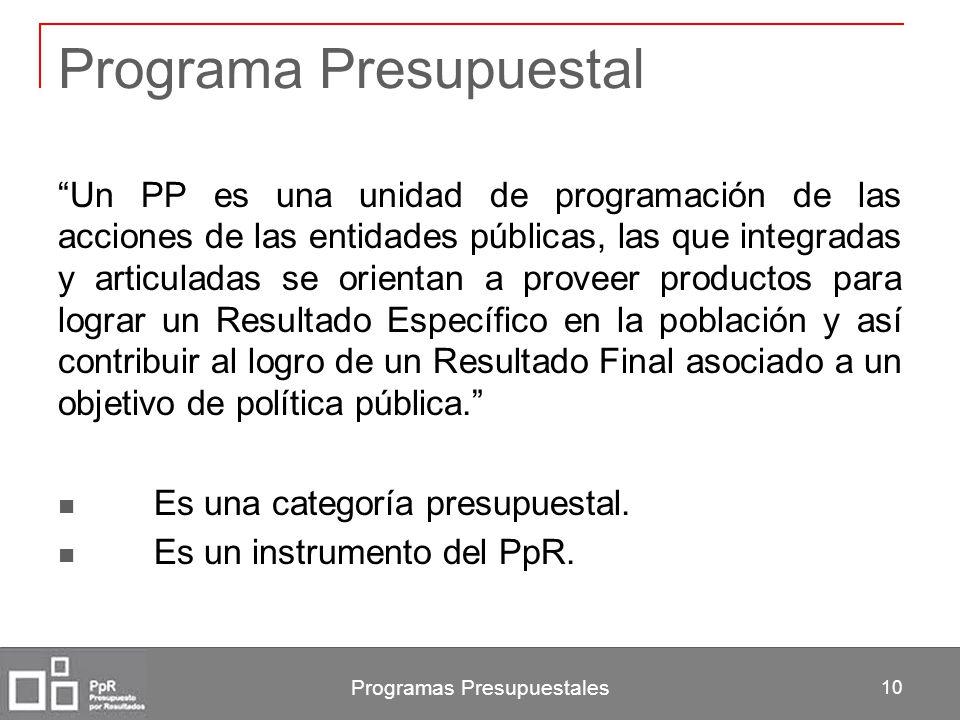 Programa Presupuestal