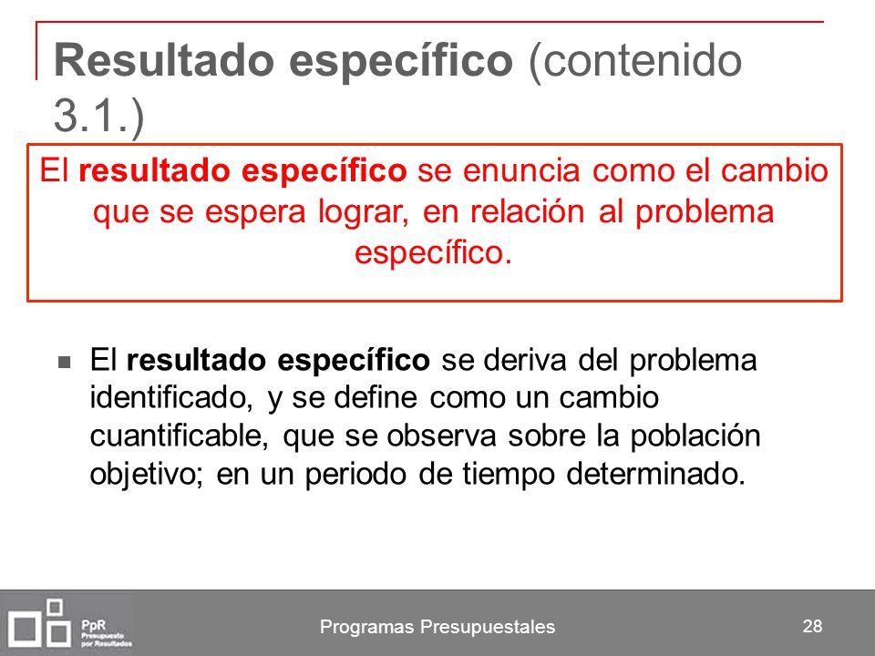 Resultado específico (contenido 3.1.)