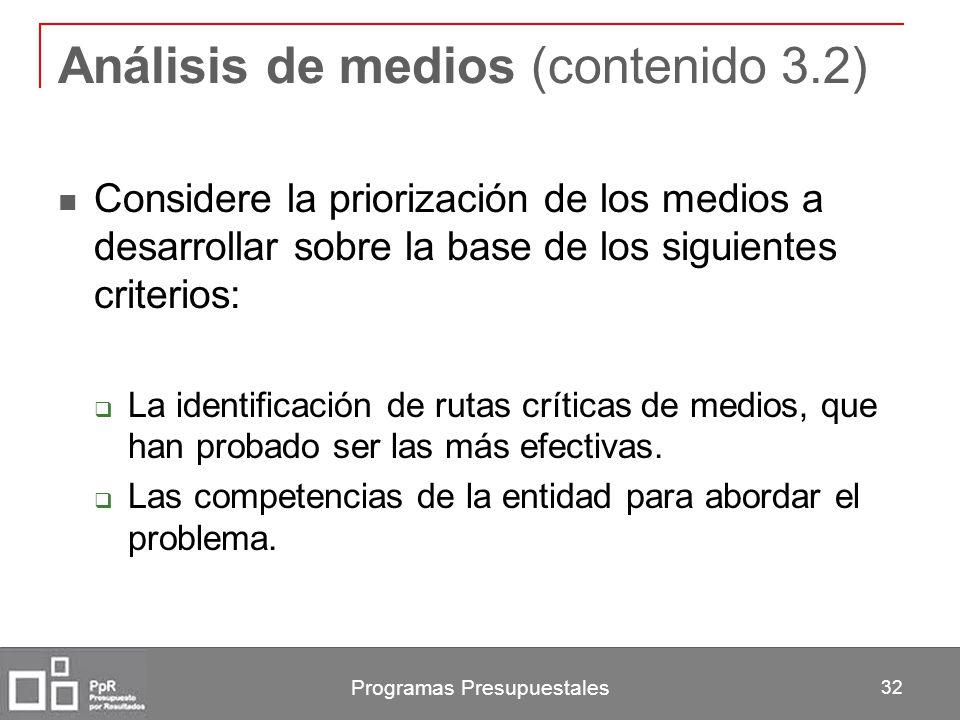 Análisis de medios (contenido 3.2)