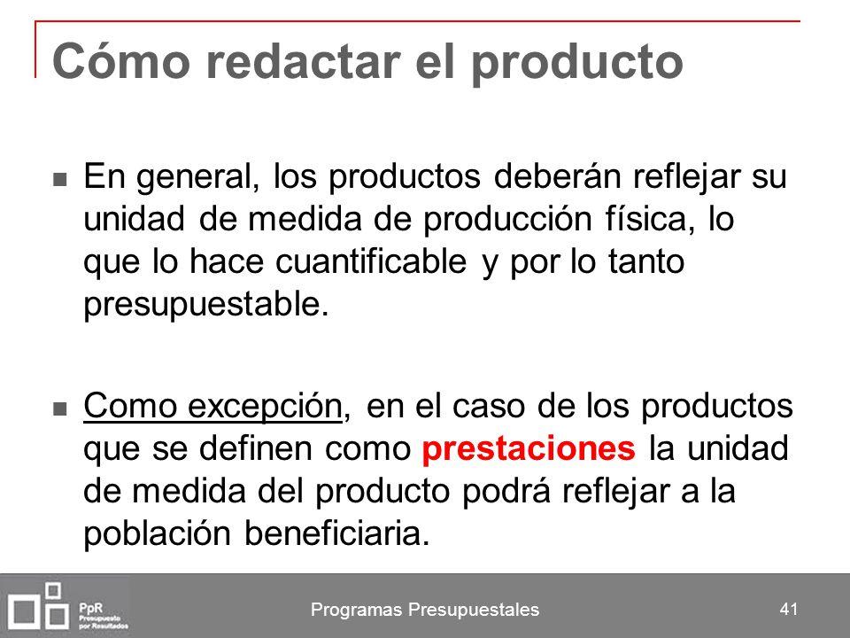 Cómo redactar el producto