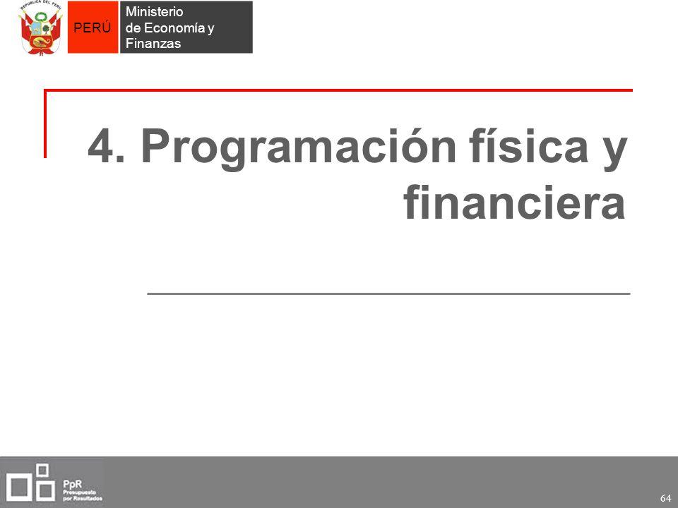4. Programación física y financiera