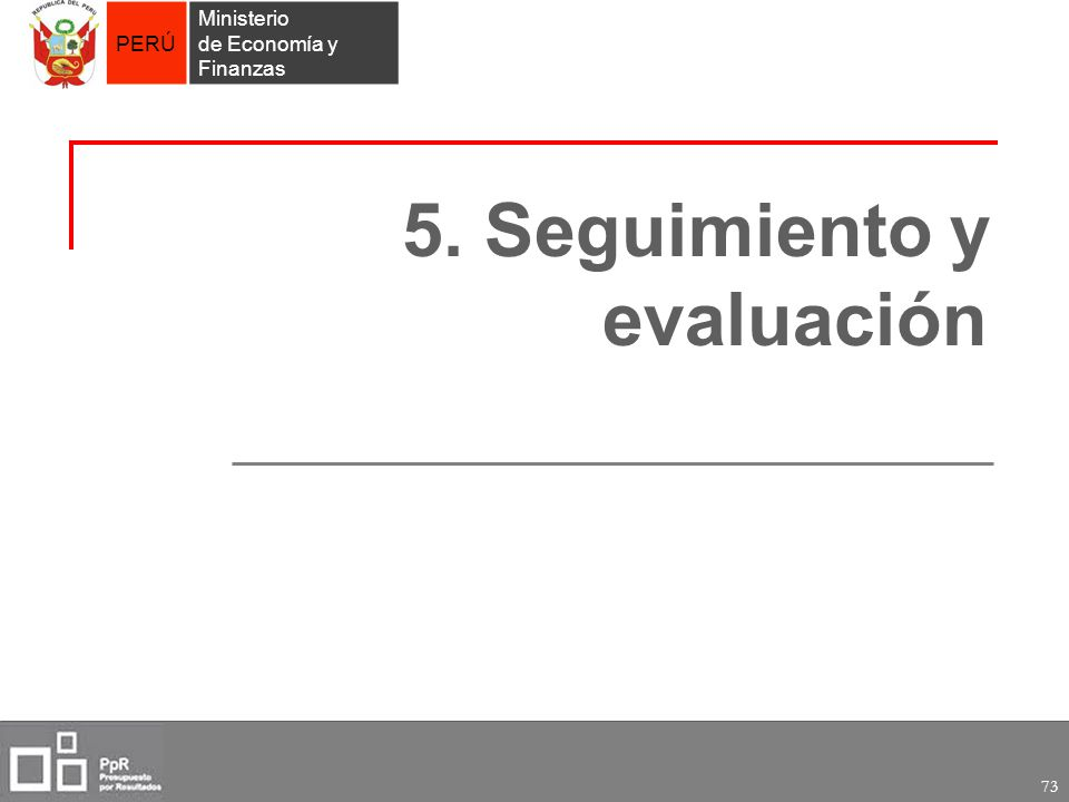 5. Seguimiento y evaluación