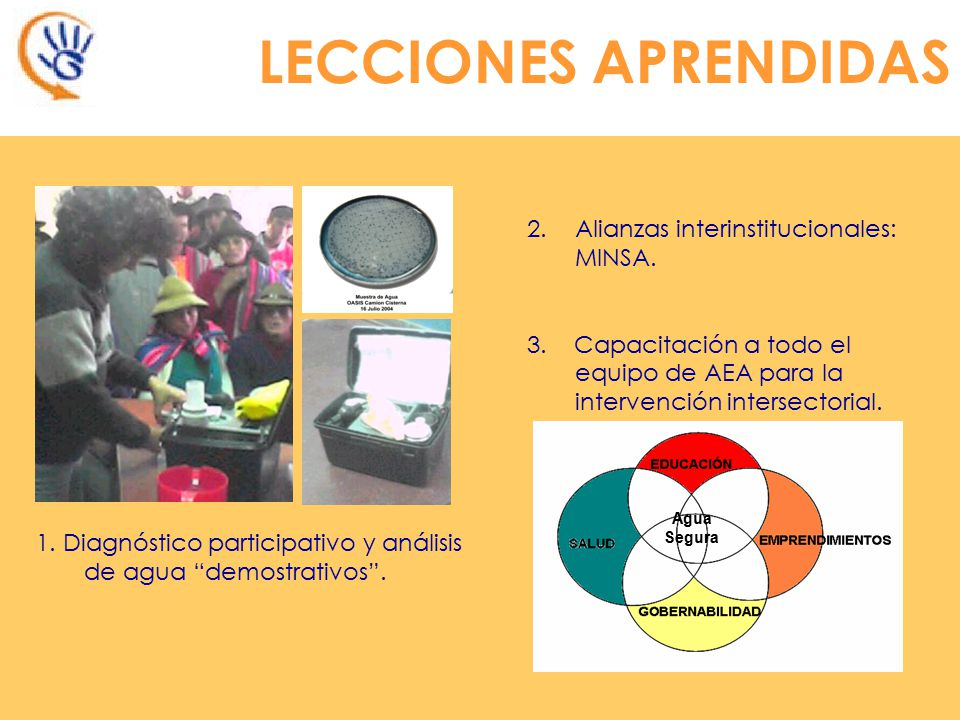 LECCIONES APRENDIDAS Alianzas interinstitucionales: MINSA.