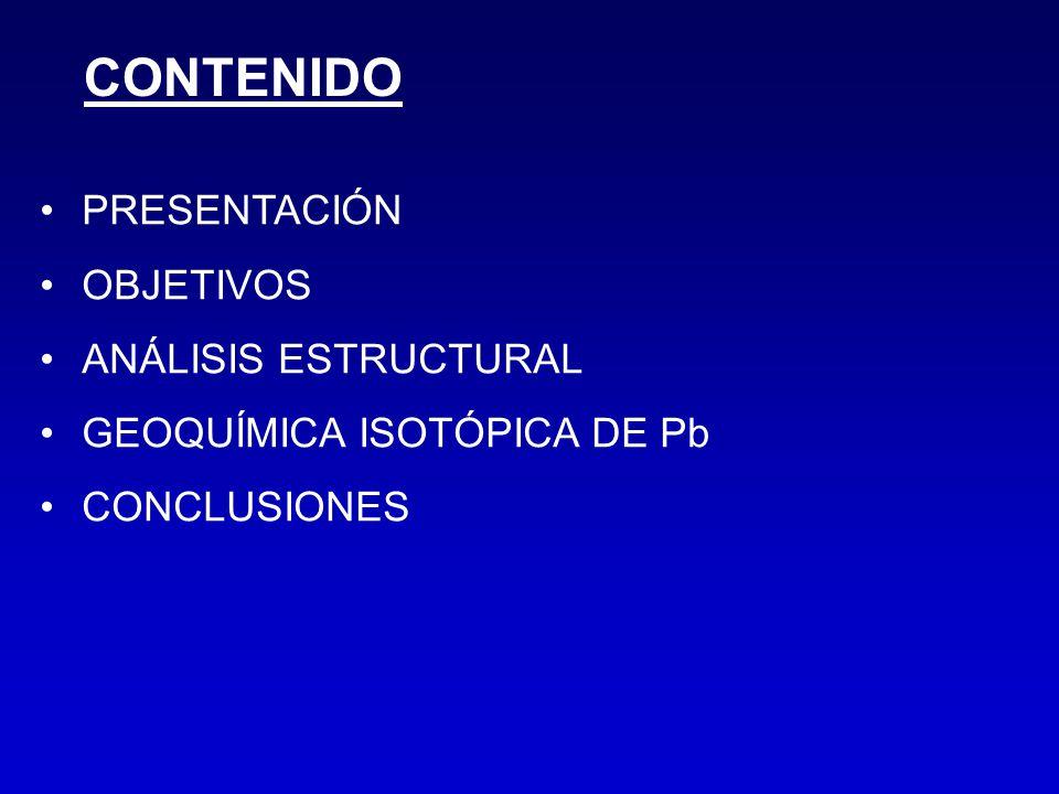 CONTENIDO PRESENTACIÓN OBJETIVOS ANÁLISIS ESTRUCTURAL