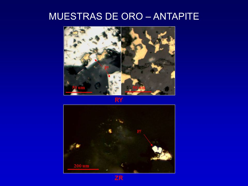 MUESTRAS DE ORO – ANTAPITE