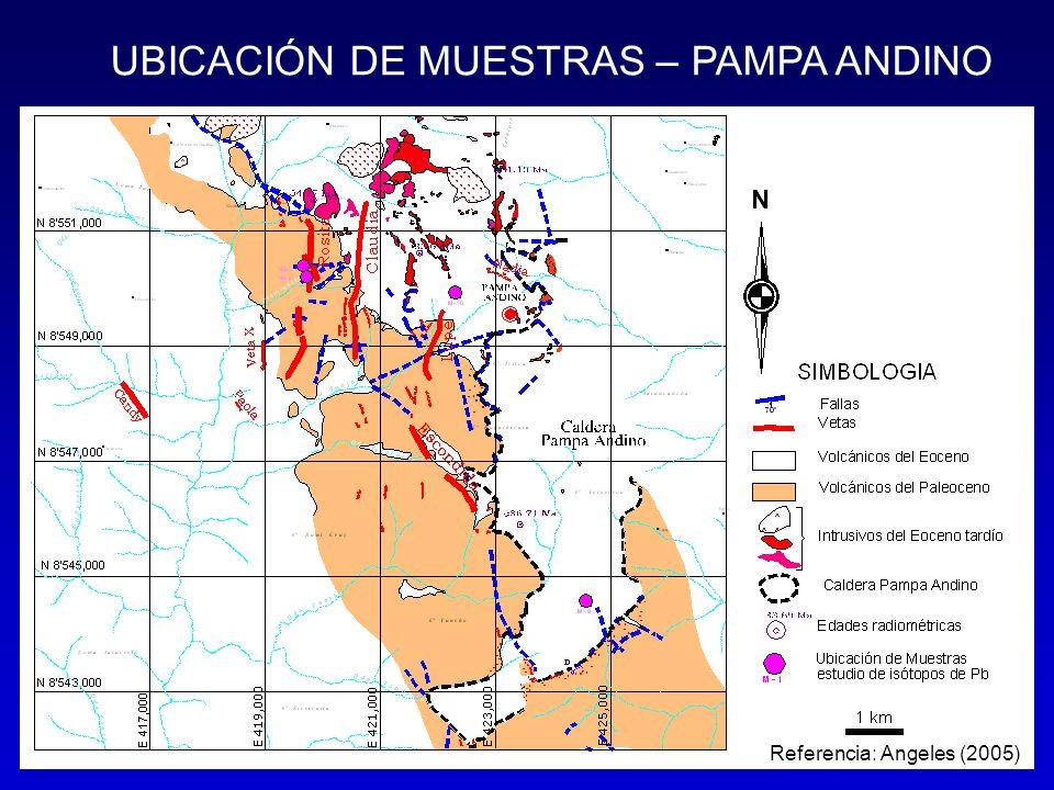 UBICACIÓN DE MUESTRAS – PAMPA ANDINO