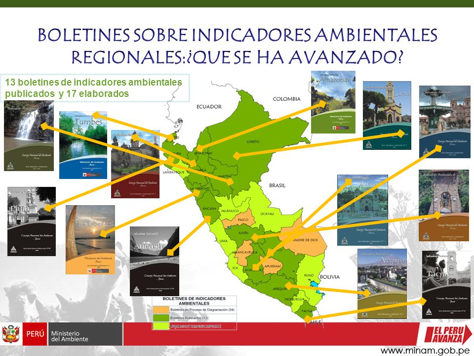 BOLETINES SOBRE INDICADORES AMBIENTALES REGIONALES:¿QUE SE HA AVANZADO