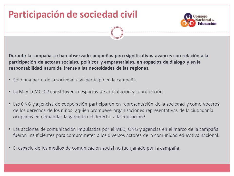 Participación de sociedad civil