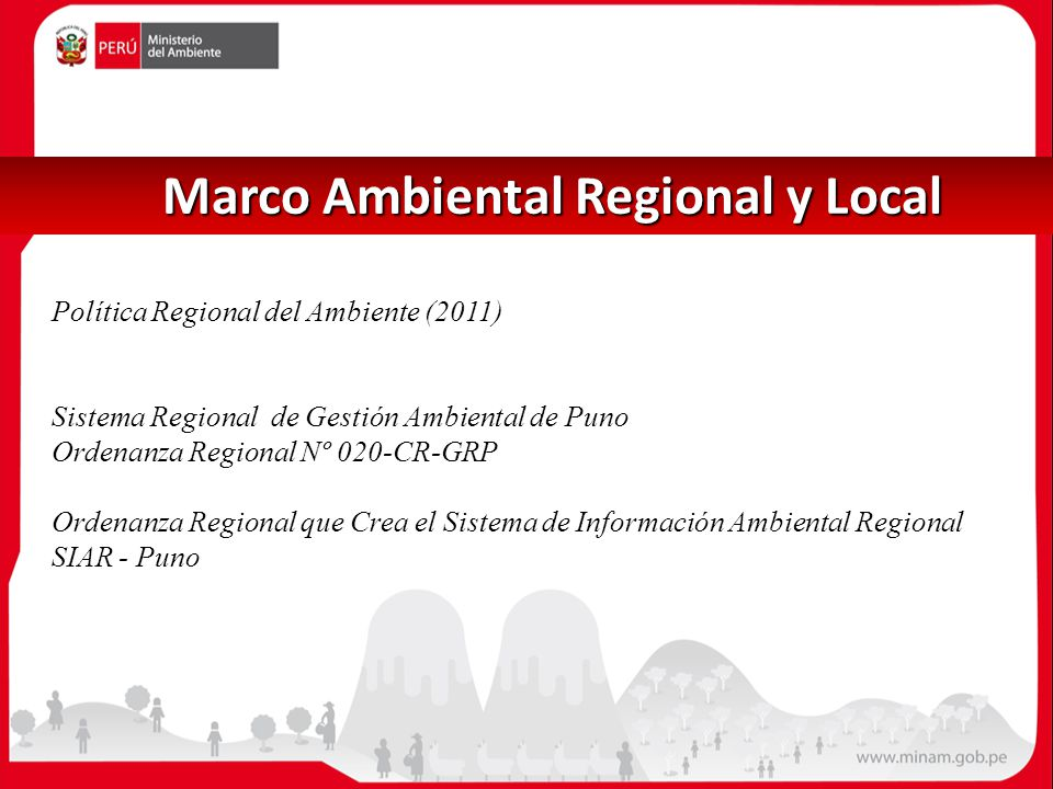 Marco Ambiental Regional y Local