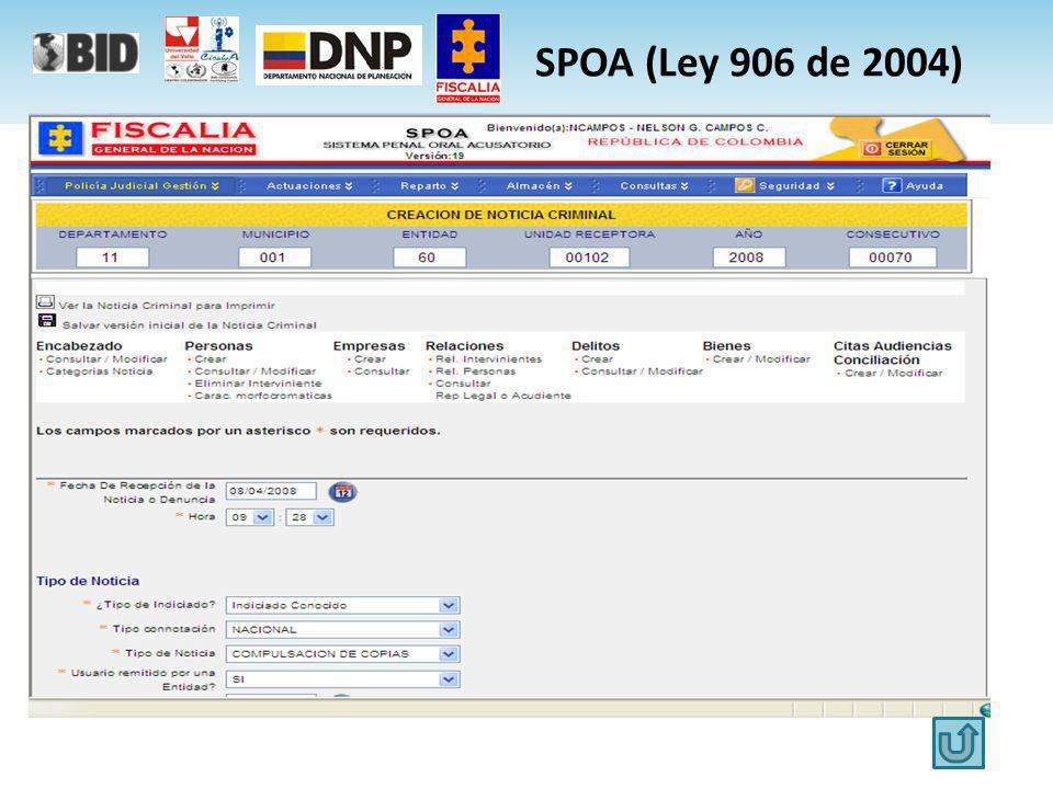 SPOA (Ley 906 de 2004)