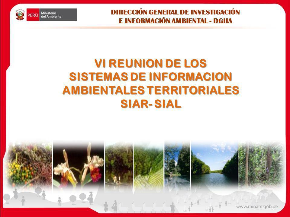 SISTEMAS DE INFORMACION AMBIENTALES TERRITORIALES SIAR- SIAL