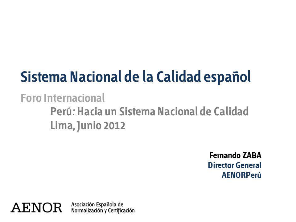 Sistema Nacional de la Calidad español