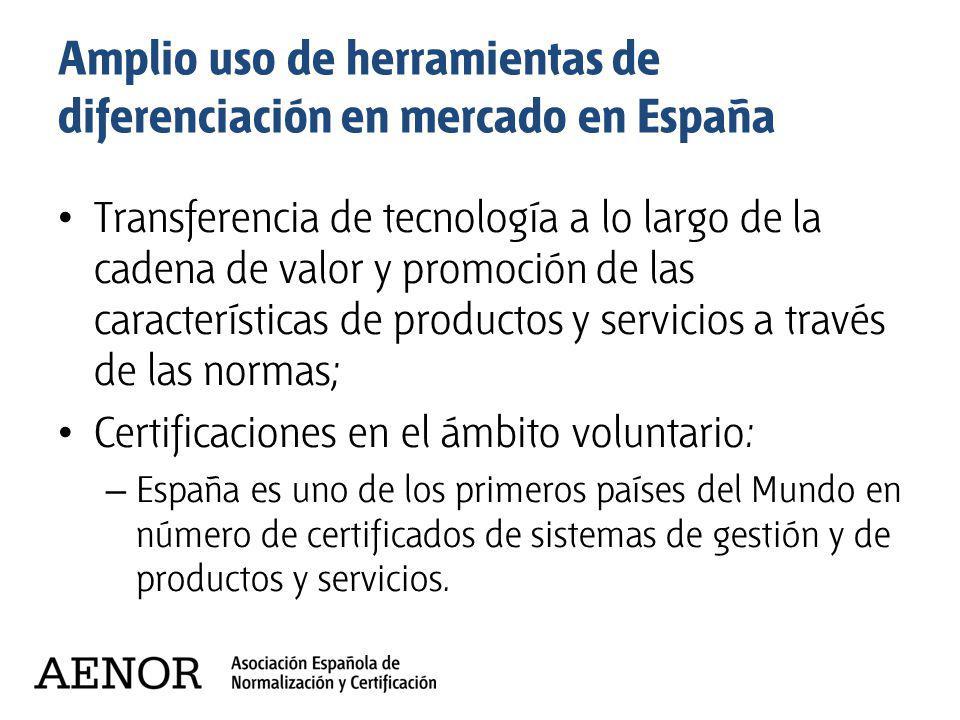 Amplio uso de herramientas de diferenciación en mercado en España