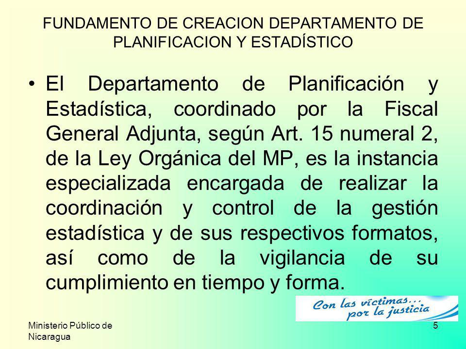 FUNDAMENTO DE CREACION DEPARTAMENTO DE PLANIFICACION Y ESTADÍSTICO