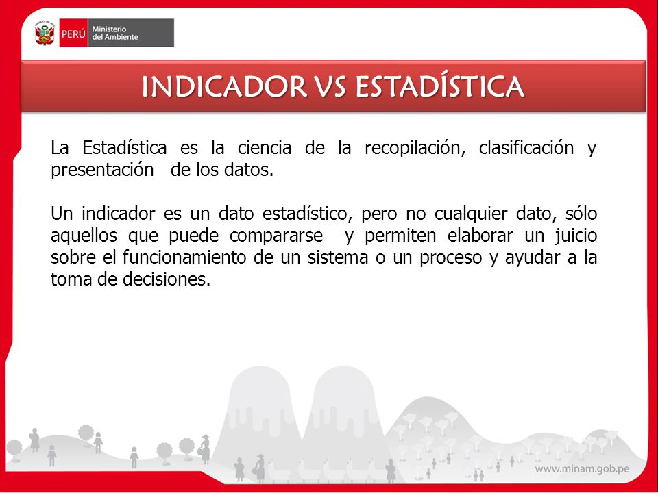 INDICADOR VS ESTADÍSTICA
