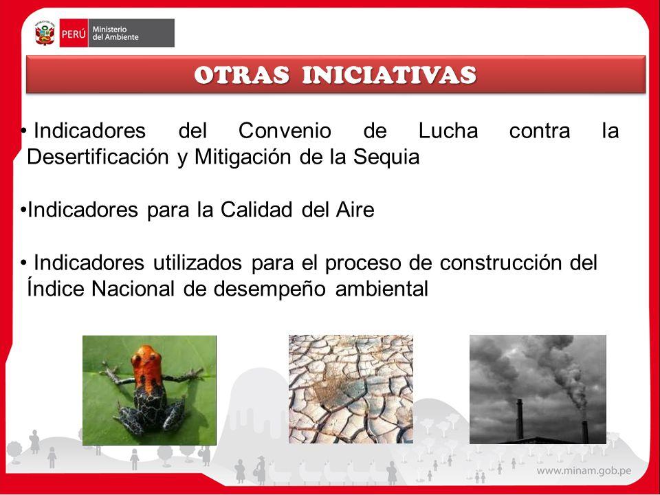 OTRAS INICIATIVAS Indicadores del Convenio de Lucha contra la Desertificación y Mitigación de la Sequia.
