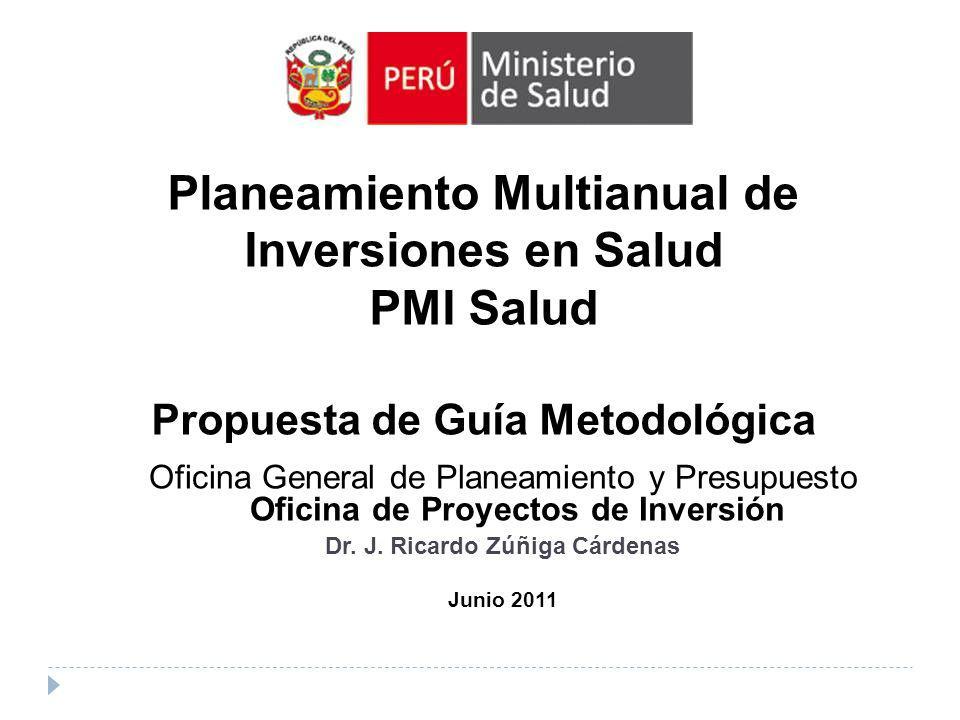 Planeamiento Multianual de Inversiones en Salud PMI Salud