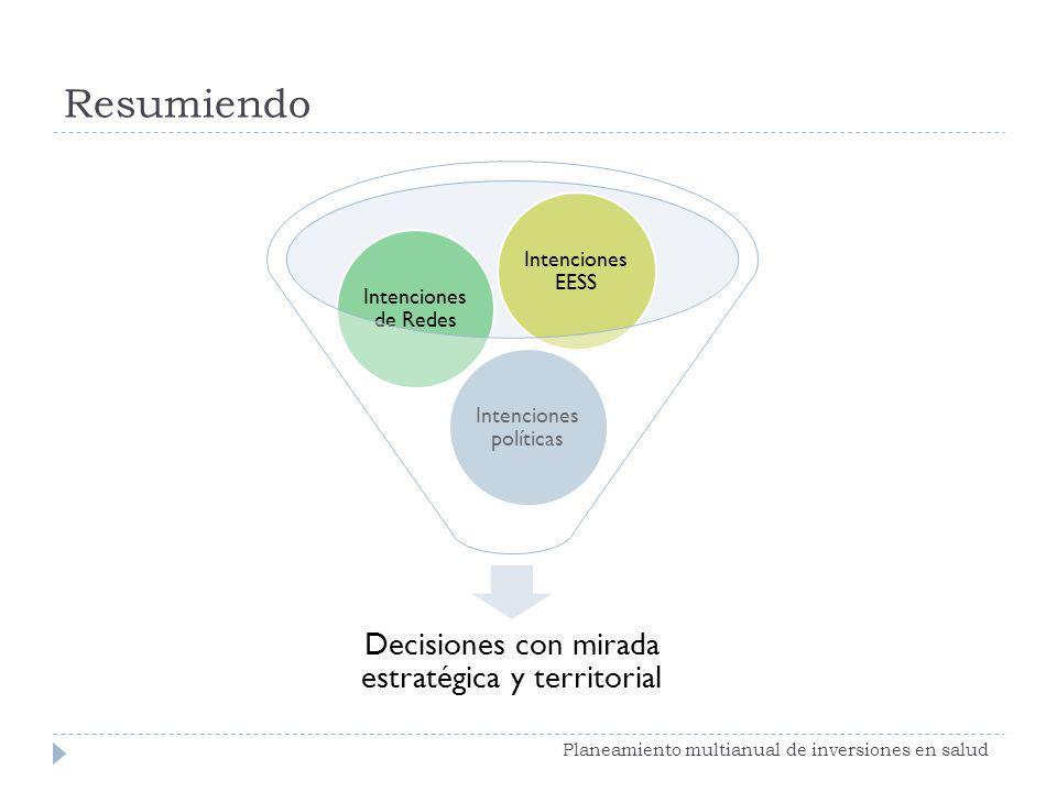 Resumiendo Planeamiento multianual de inversiones en salud