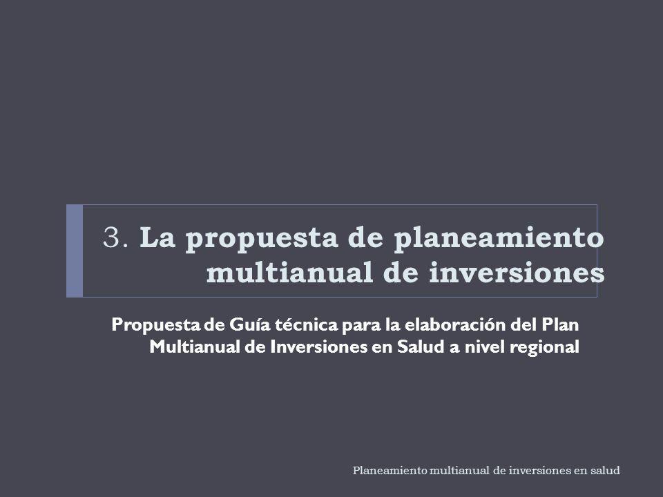 3. La propuesta de planeamiento multianual de inversiones