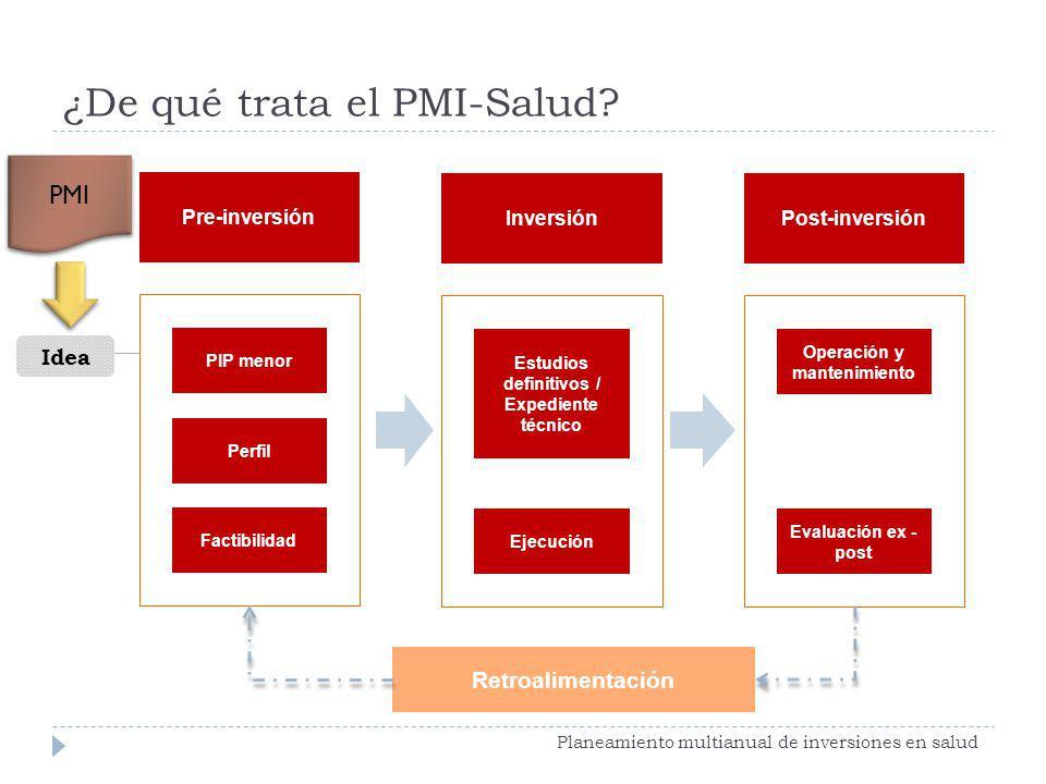 ¿De qué trata el PMI-Salud
