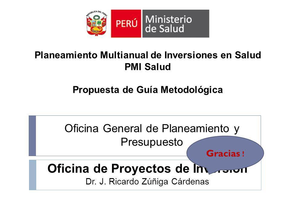 Oficina de Proyectos de Inversión Dr. J. Ricardo Zúñiga Cárdenas