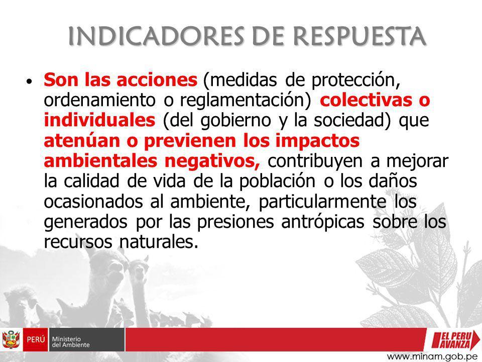 INDICADORES DE RESPUESTA