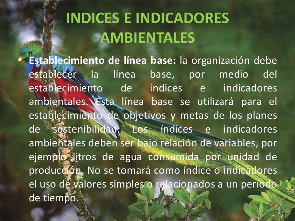INDICES E INDICADORES AMBIENTALES