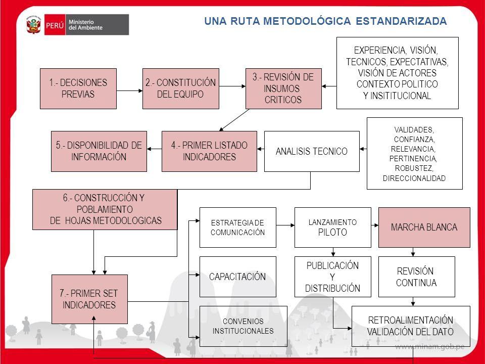 UNA RUTA METODOLÓGICA ESTANDARIZADA