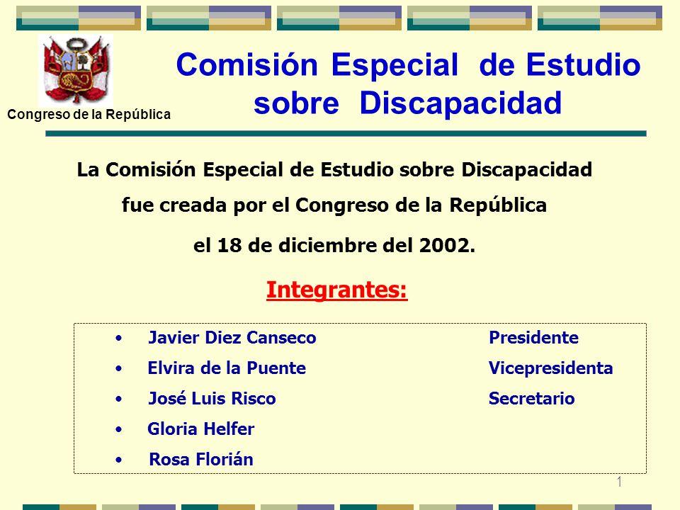 Comisión Especial de Estudio sobre Discapacidad
