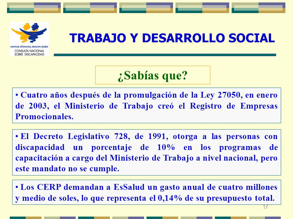 TRABAJO Y DESARROLLO SOCIAL