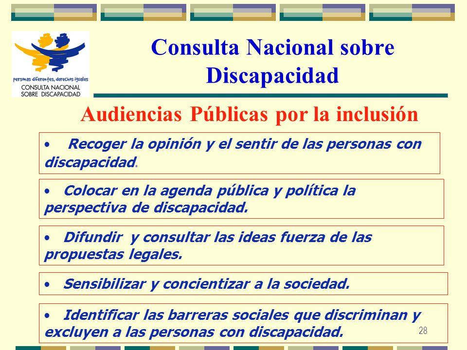 Consulta Nacional sobre Discapacidad