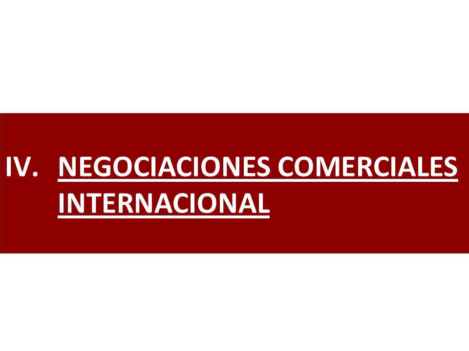 NEGOCIACIONES COMERCIALES INTERNACIONAL