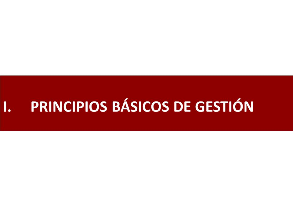 PRINCIPIOS BÁSICOS DE GESTIÓN
