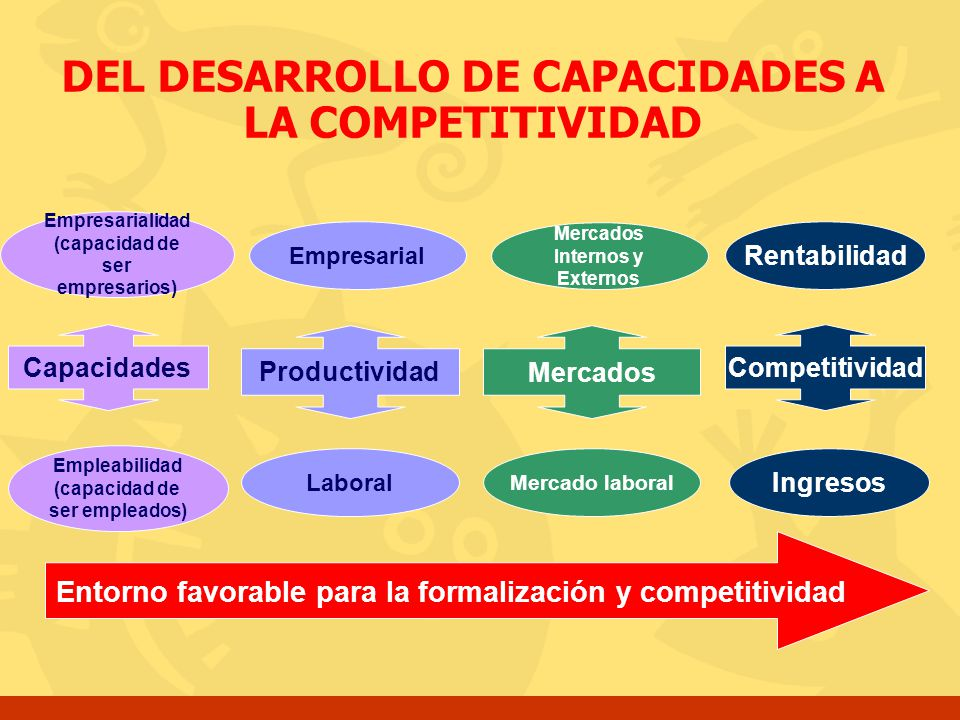 DEL DESARROLLO DE CAPACIDADES A LA COMPETITIVIDAD