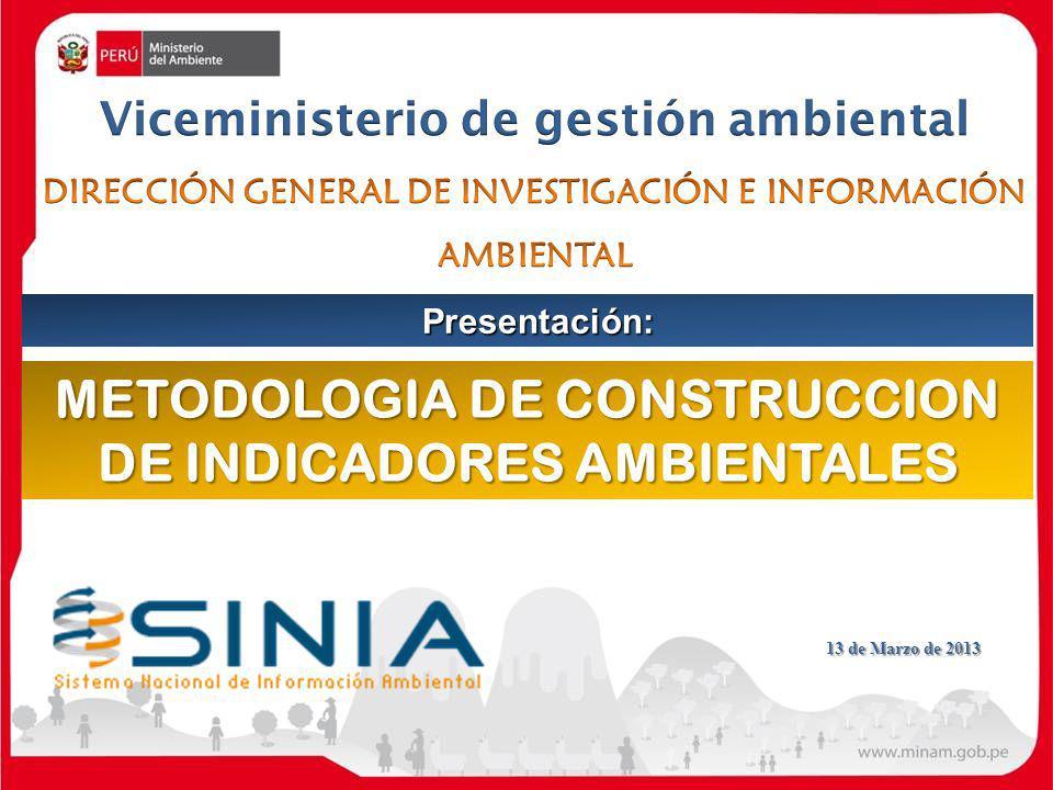 METODOLOGIA DE CONSTRUCCION DE INDICADORES AMBIENTALES
