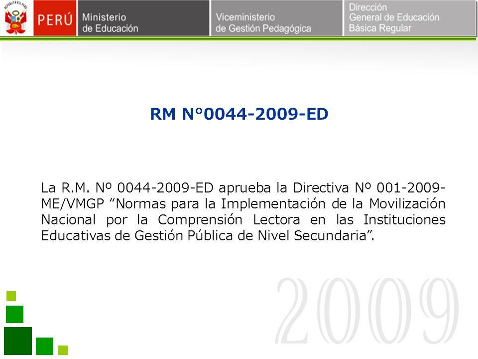RM N°0044-2009-ED